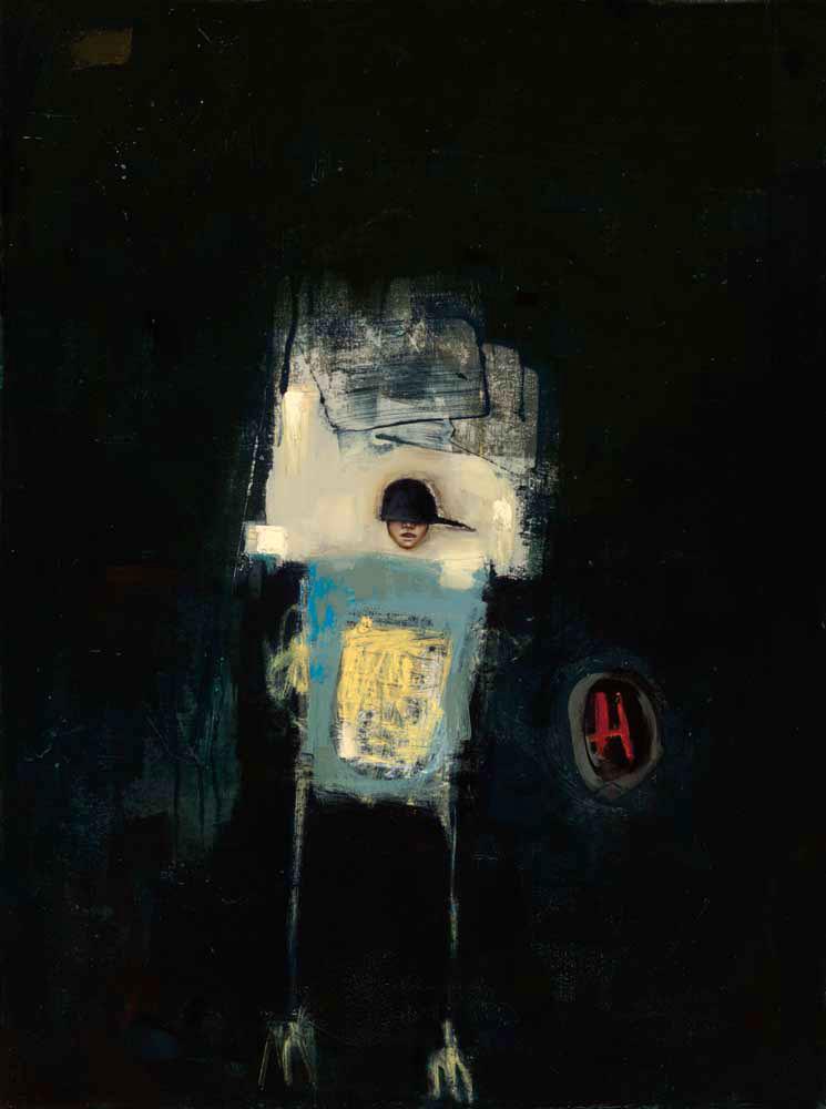 "Keifer  Oil and enamel on canvas - 2015 40"" x 30"" / 101 x 76 cm"