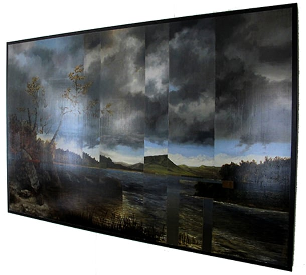 Kensett - 2015 - Oil on black galvanized metal - 40x60 in. / 102x152 cm.