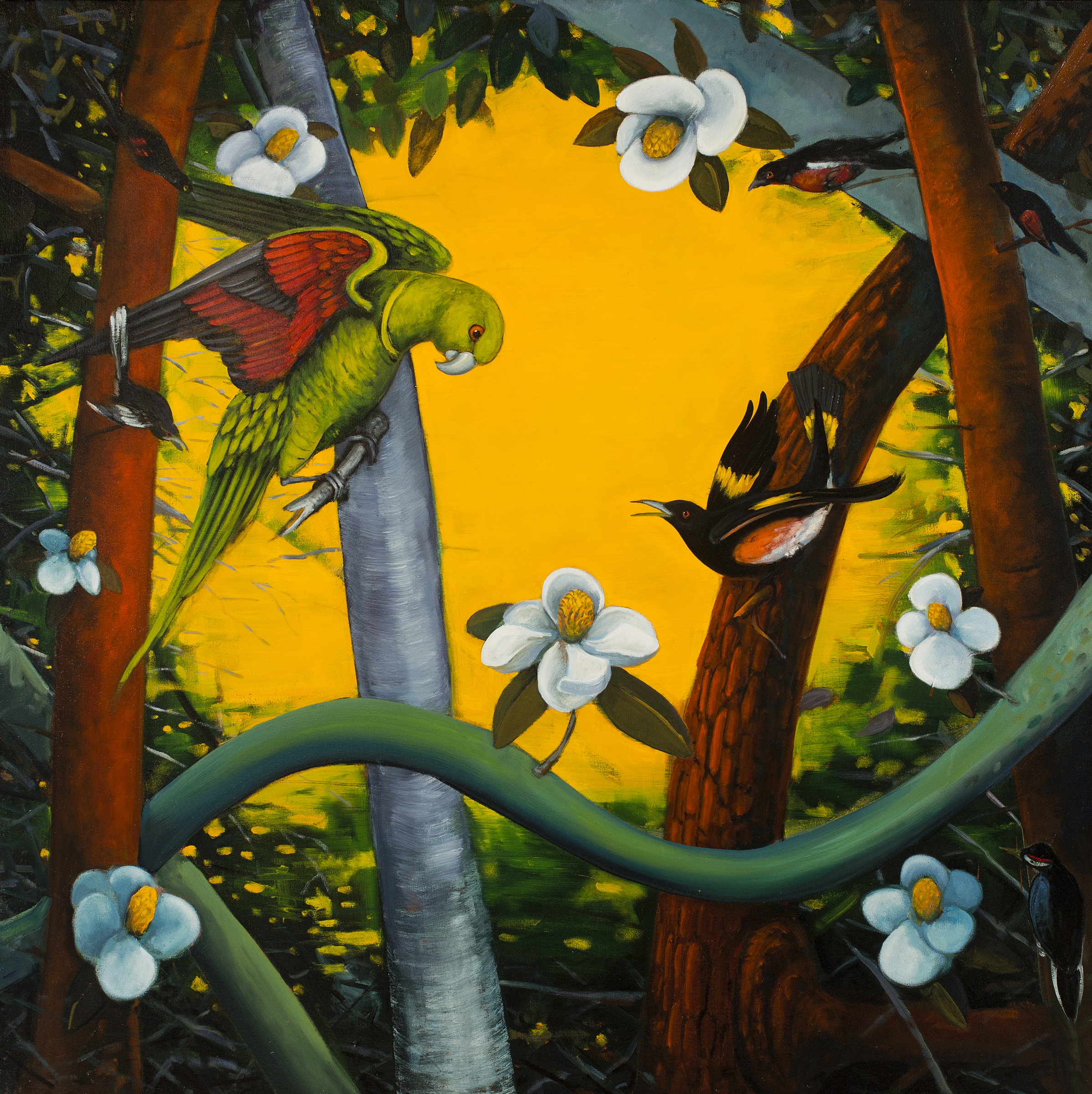 Rights of Spring  - 2015 - Oil on canvas - 50x50 in / 127x127 cm