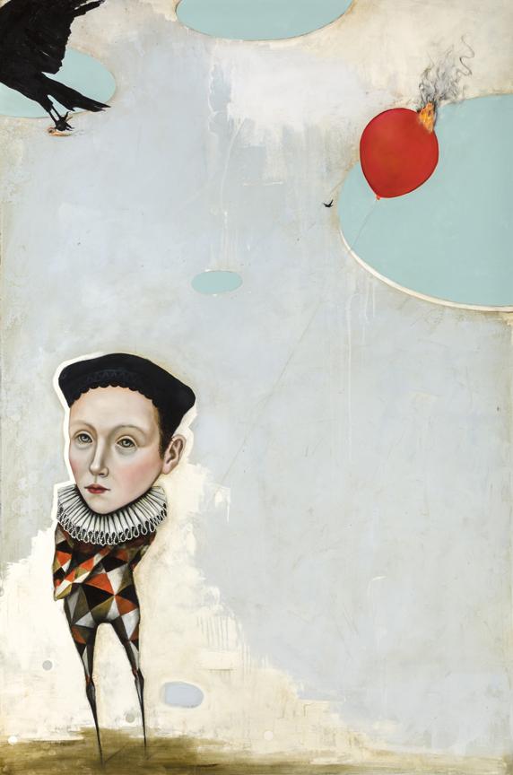 "The Last Balloon  Oil and enamel on canvas - 2016 - 40"" x 60"" / 102 x 152 cm"