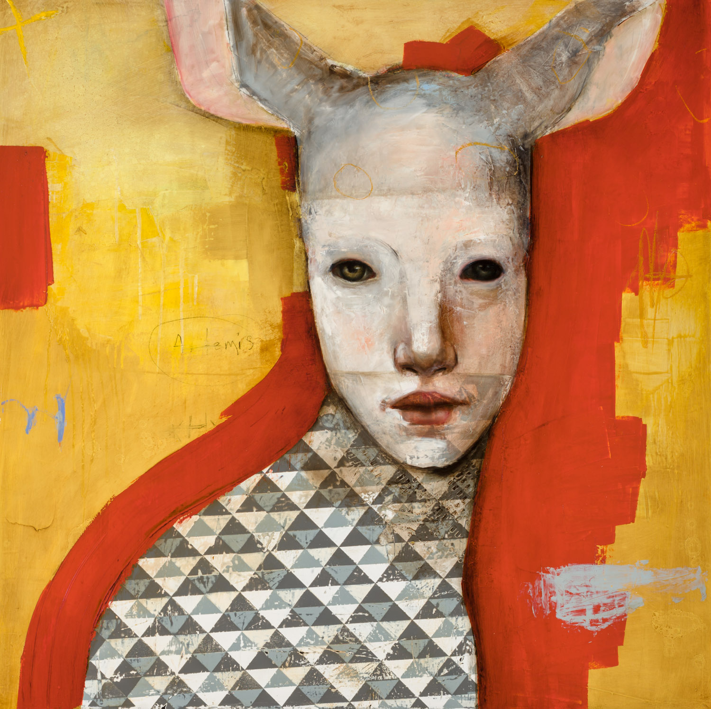 "Artemis  - Oil on canvas - 40"" x 40"" / 102 x 102 cm"