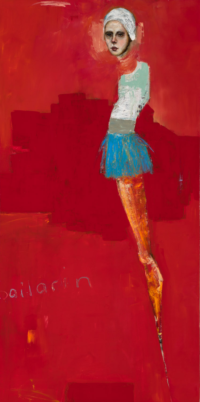 "Dancer  - Oil on canvas - 48"" x 24"" / 122 x 61 cm - SOLD"