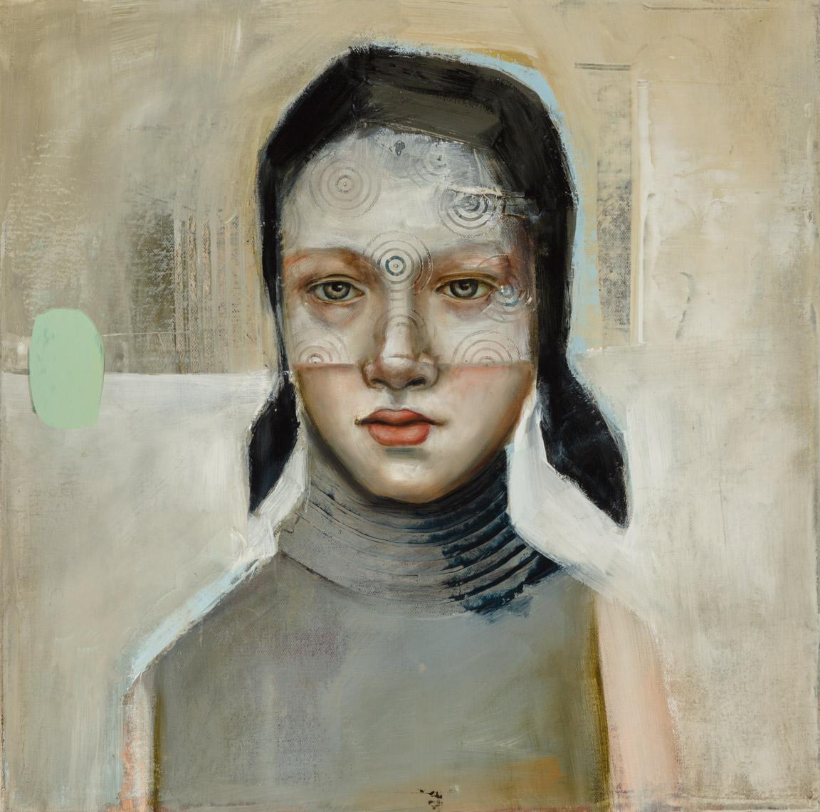 "Hidden  - Oil on canvas - 15"" x 15"" / 38 x 38 cm - SOLD"
