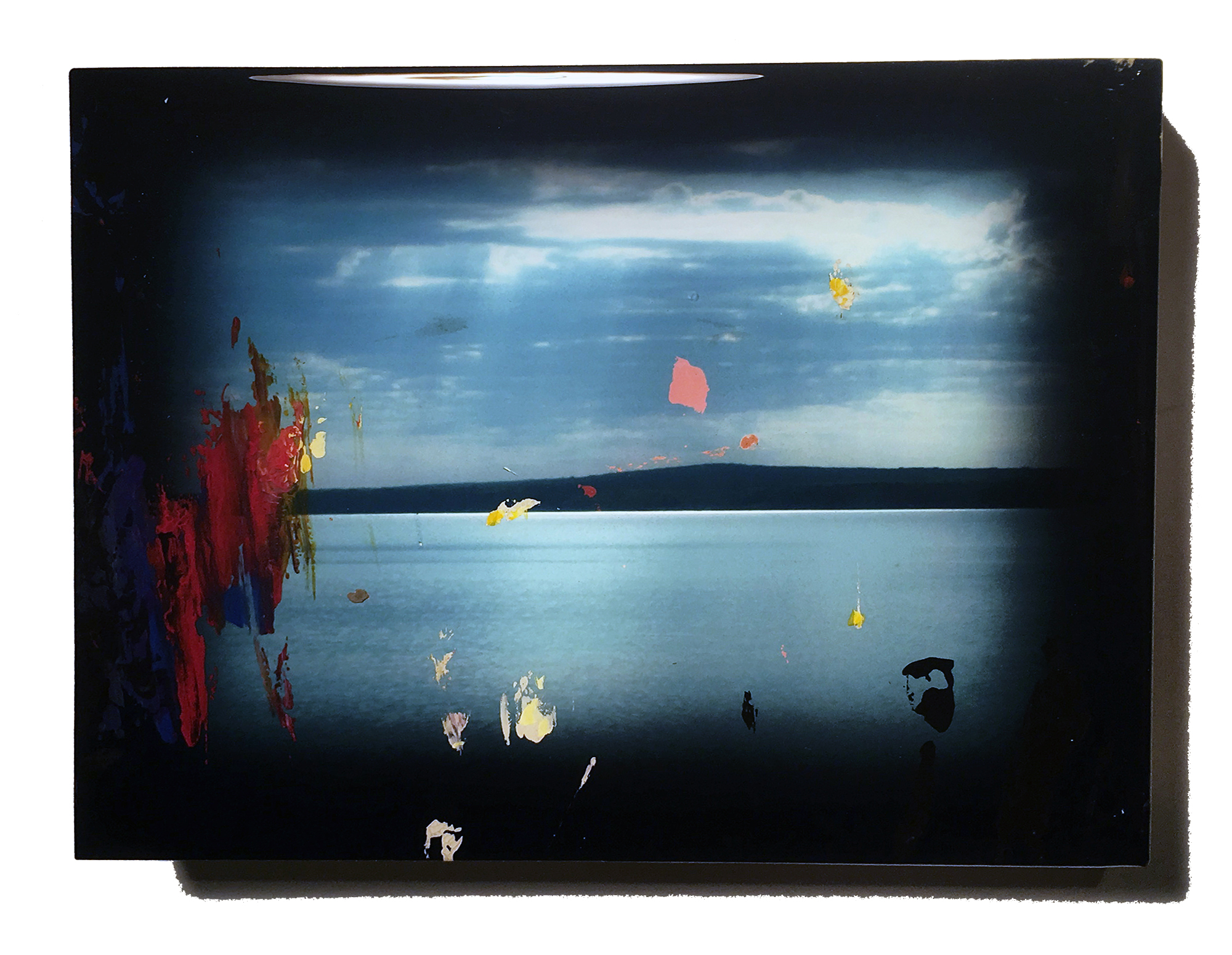 Keewanaw_Bay_Mock-up  Acrylic, Photo print, MDF, and UV resin 6 x 8 x 1.5in / 15 x 20 x 4 cm