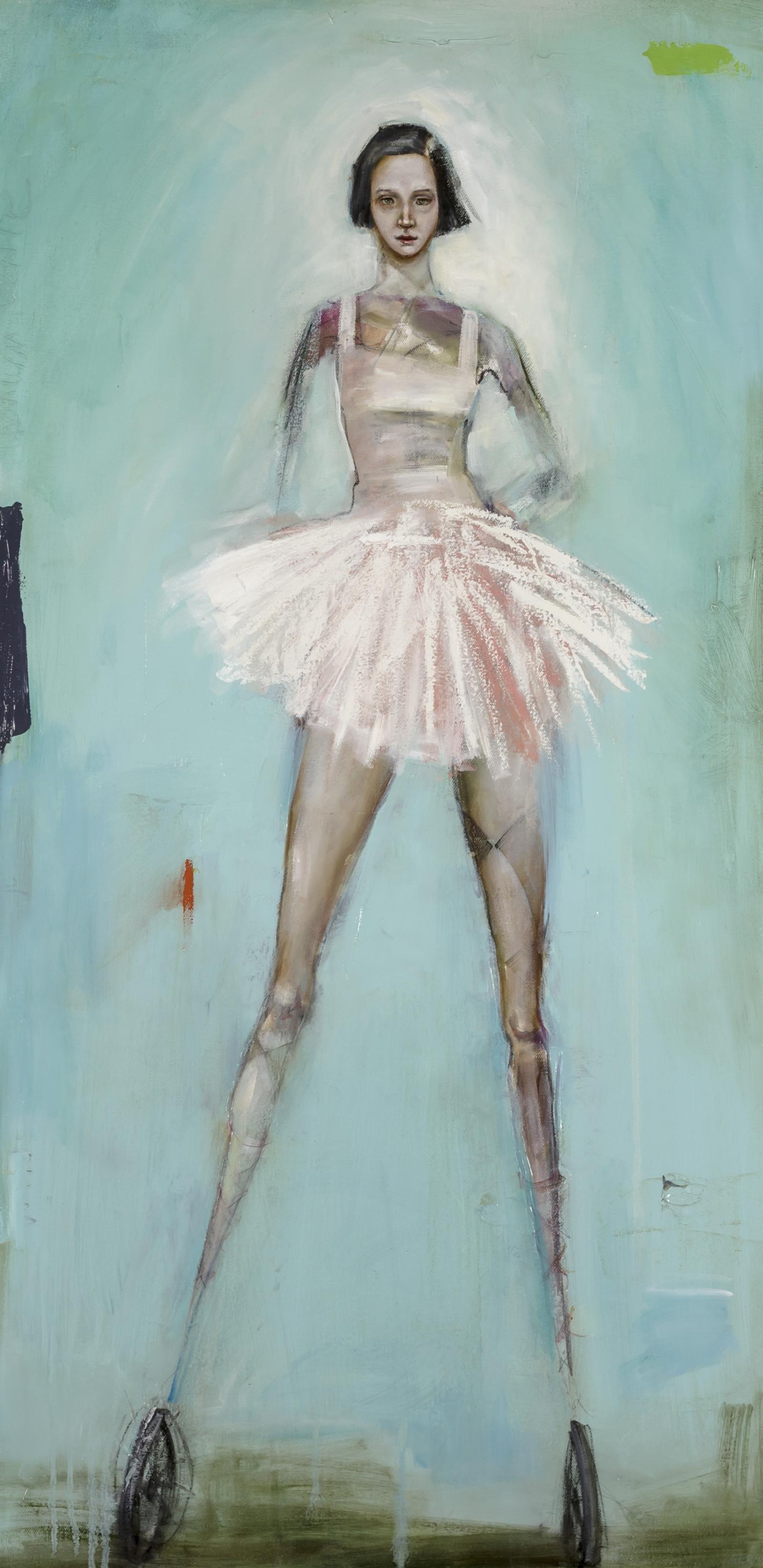 "Fortuna  Oil and enamel on canvas - 2017 - 39"" x 29.7"" / 100 x 50 cm"