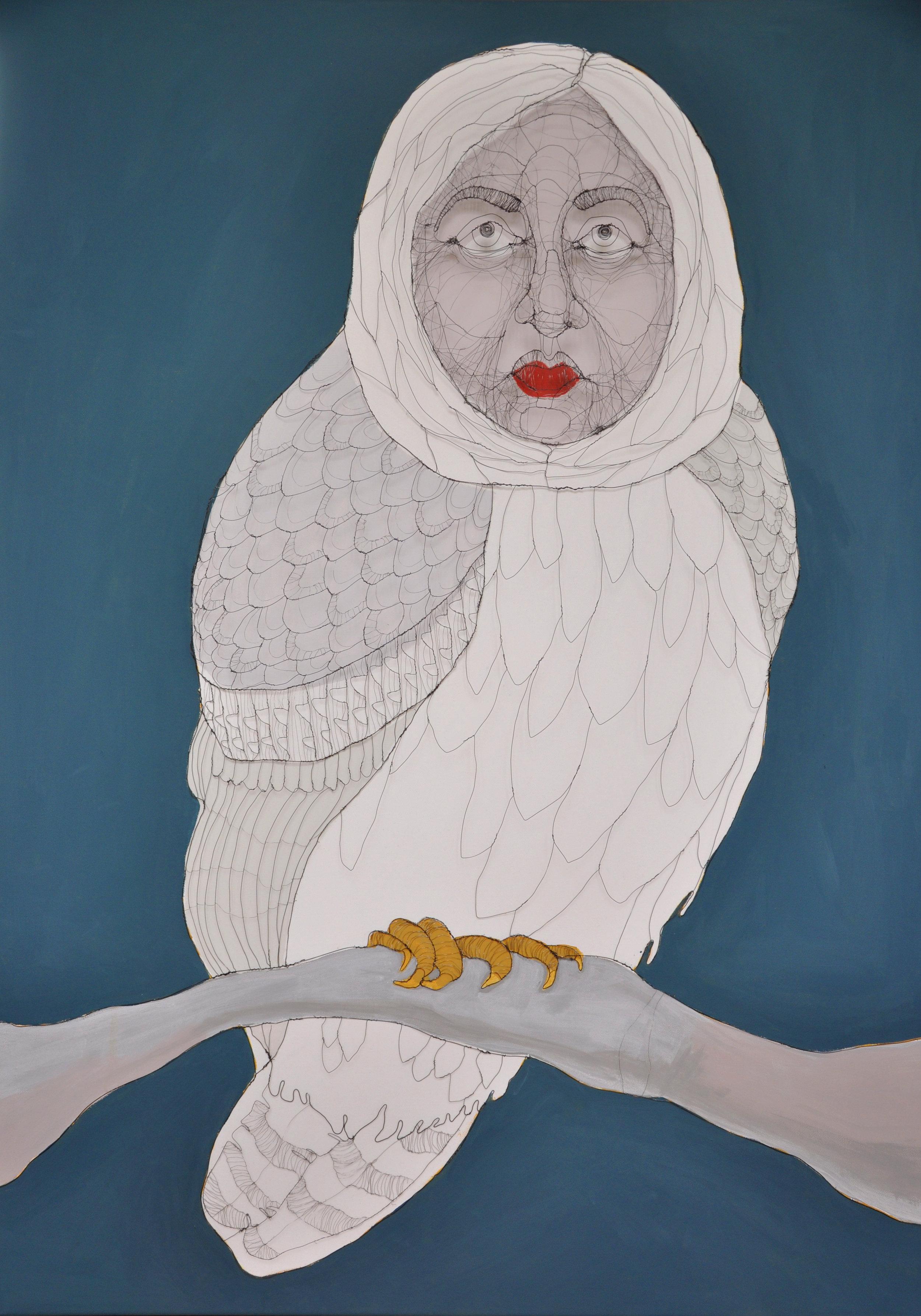 FM_Ba Bird. 80cm x 110cm x 9cm. 2017 Wire and emulsion paint on canvas_lg.jpg