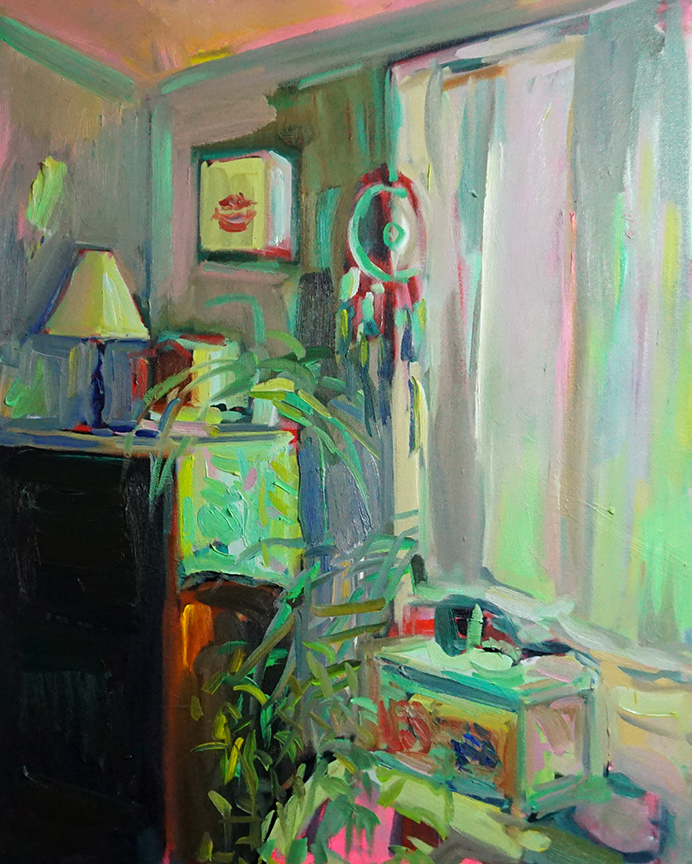 The Bedside  2019, Oil on canvas - 30 x 24 x 2 inches / 76 x 61 x 5 cm