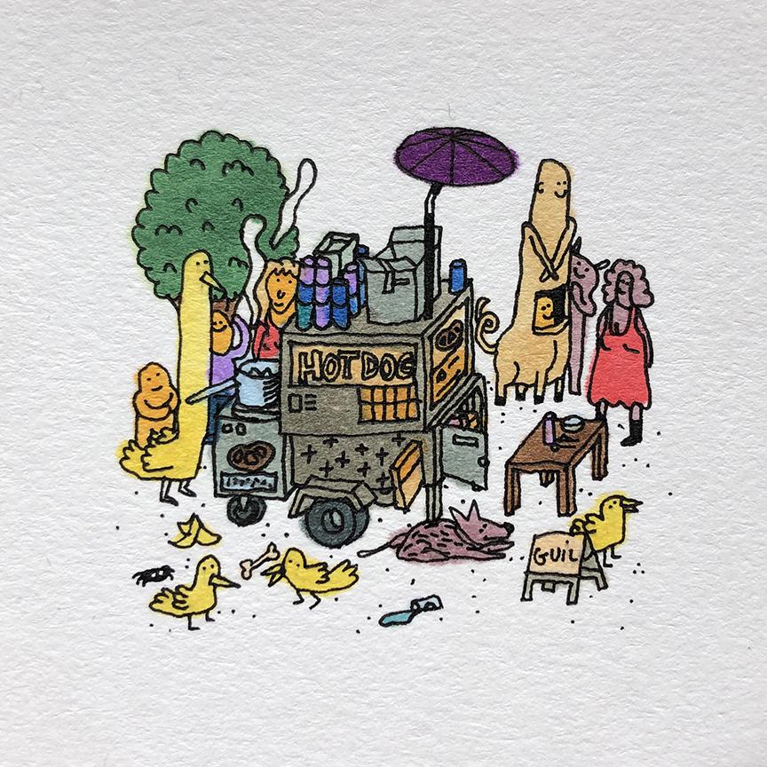 GC103_Yellow Birds & Hot Dog_60x60mm_sm.jpg