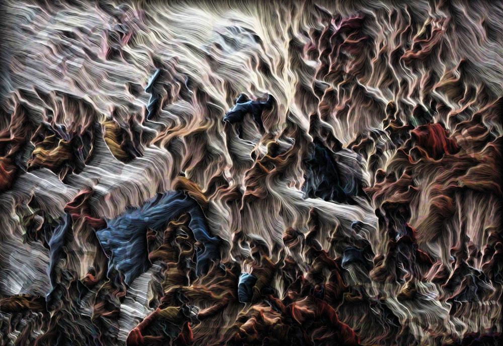 Baroque  - 2019 - New Media - Computational engraving on aluminium - 22 x 31.5 inches / 55 x 80 cm