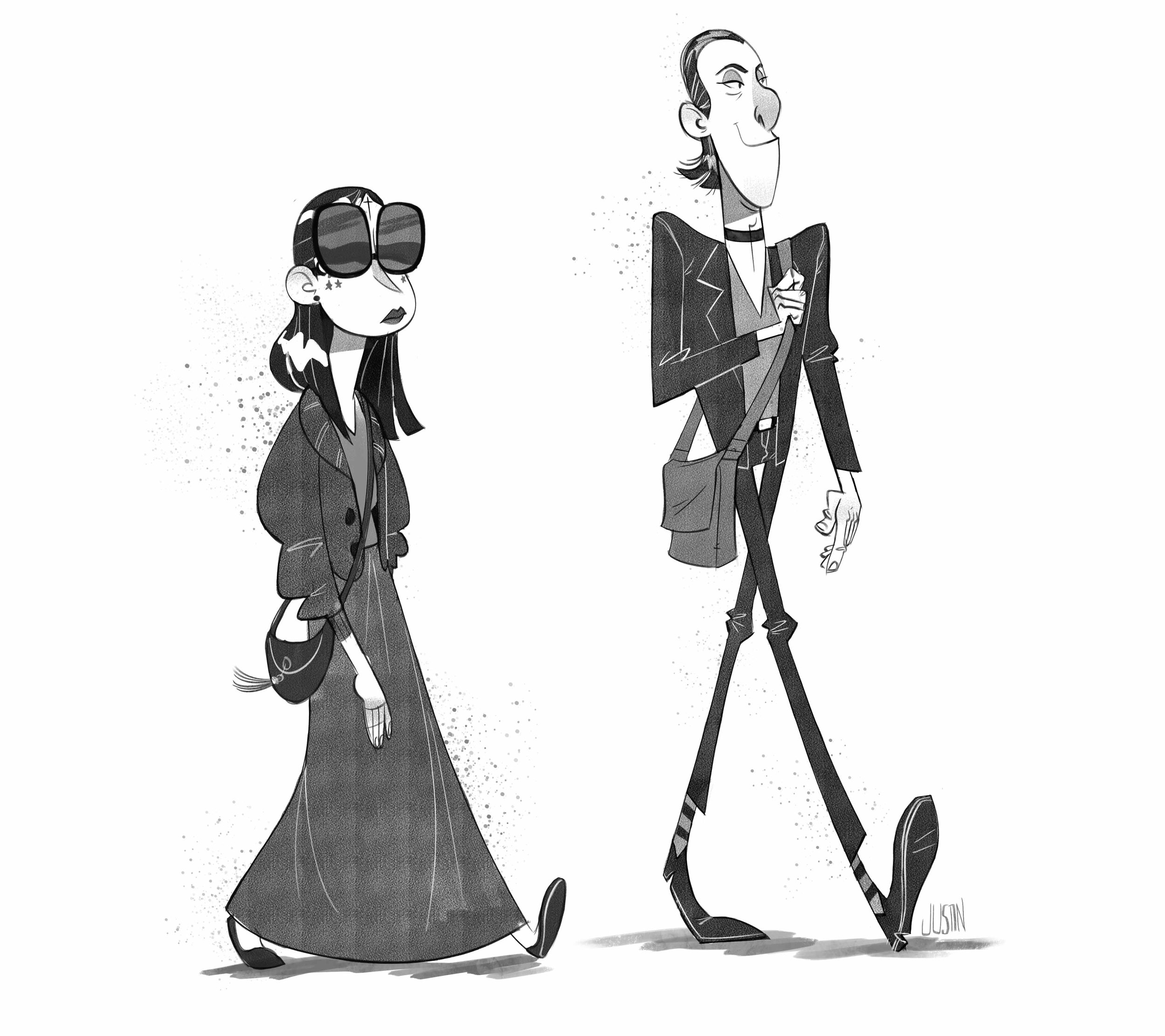 Saw these two walking down the street in Hollywood last week.