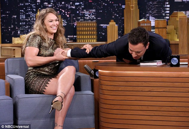 Ronda crushes the tiny man with ease. The world rejoices.