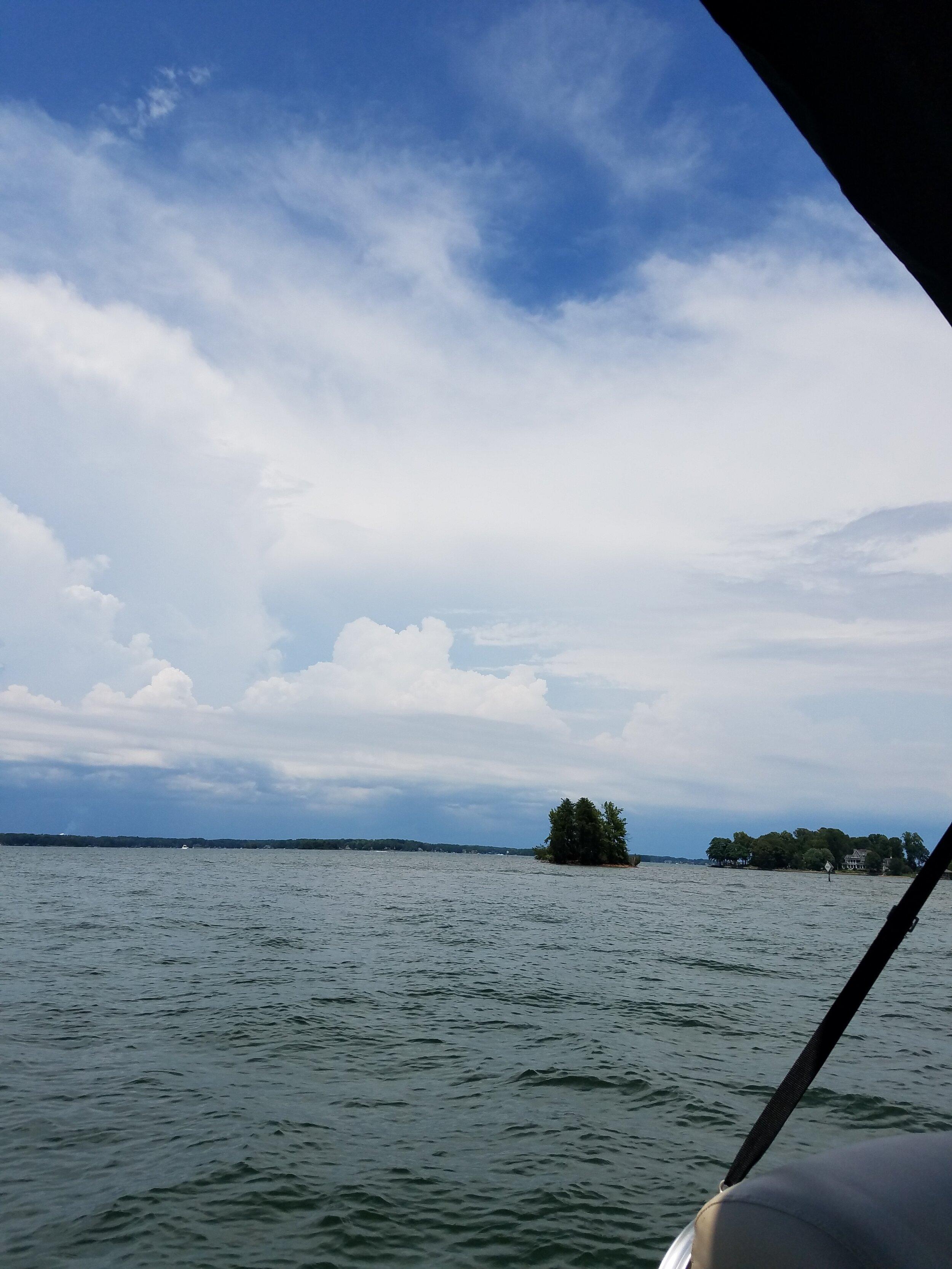 On a boat in North Carolina.