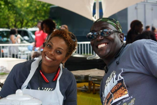 EXECUTIVE CHEF & OWNER   BILL HAZEL WITH WIFE JORIE HAZEL