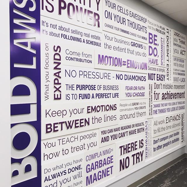 """Keller Williams 3D """"Bold Wall"""""""