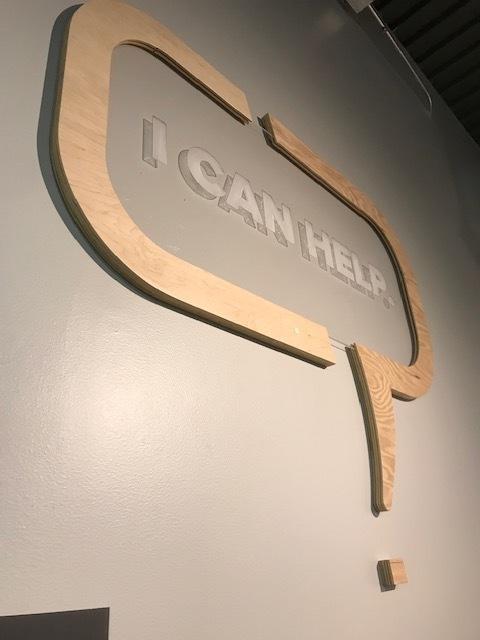 Acrylic and wood signage