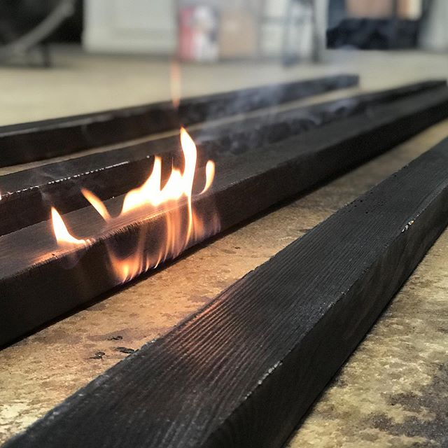 Shou Sugi Ban. #shousugiban #torched #texture  #design #build #travel #technique #ilovemyjob