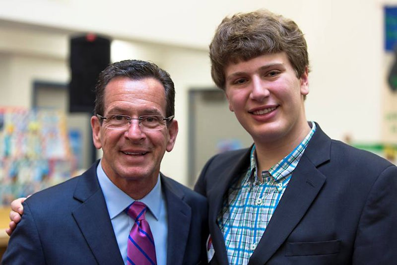 Daniel Bogaev with Gov. Dannel Malloy just after the signing of PA 14-39 in Hartford.
