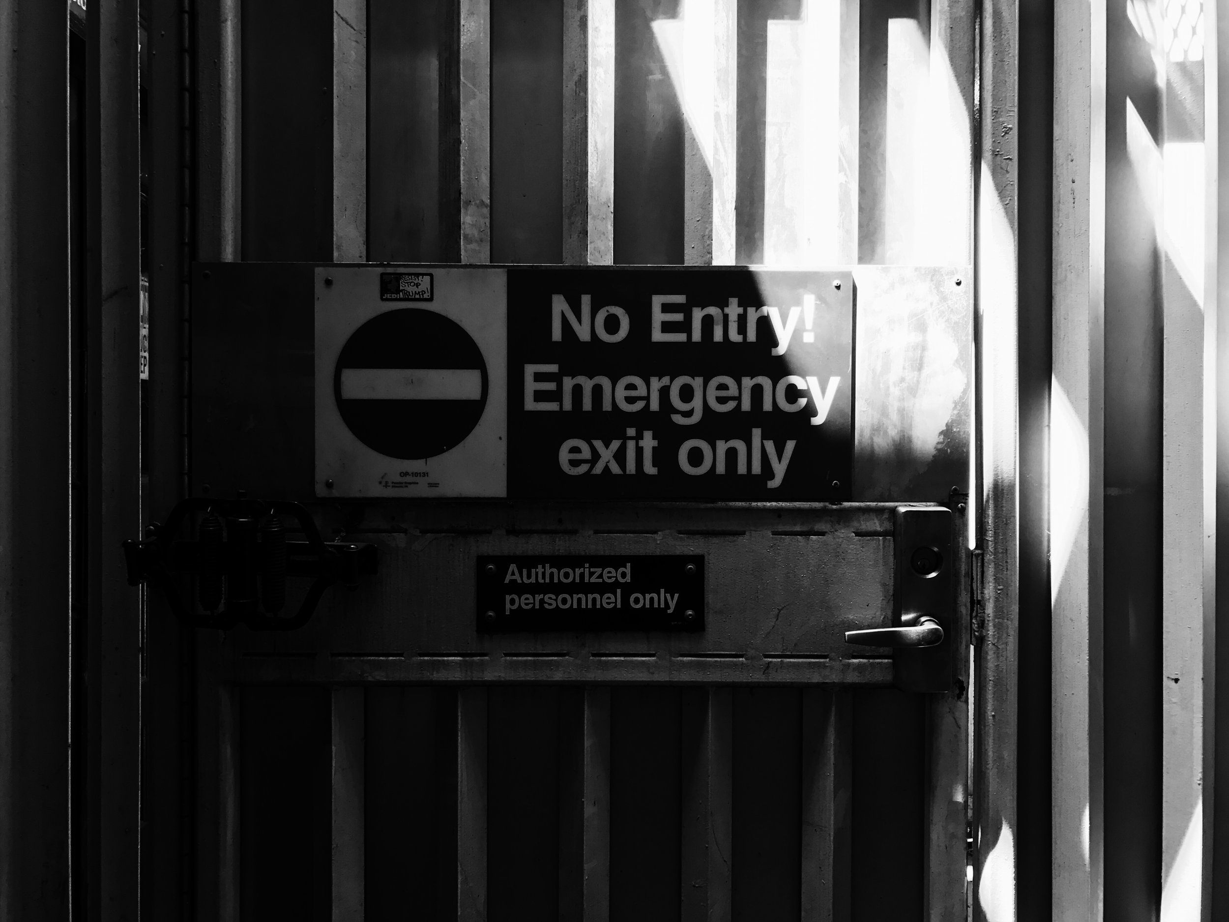 Emergency Exit, Chicago, 7/19/2017