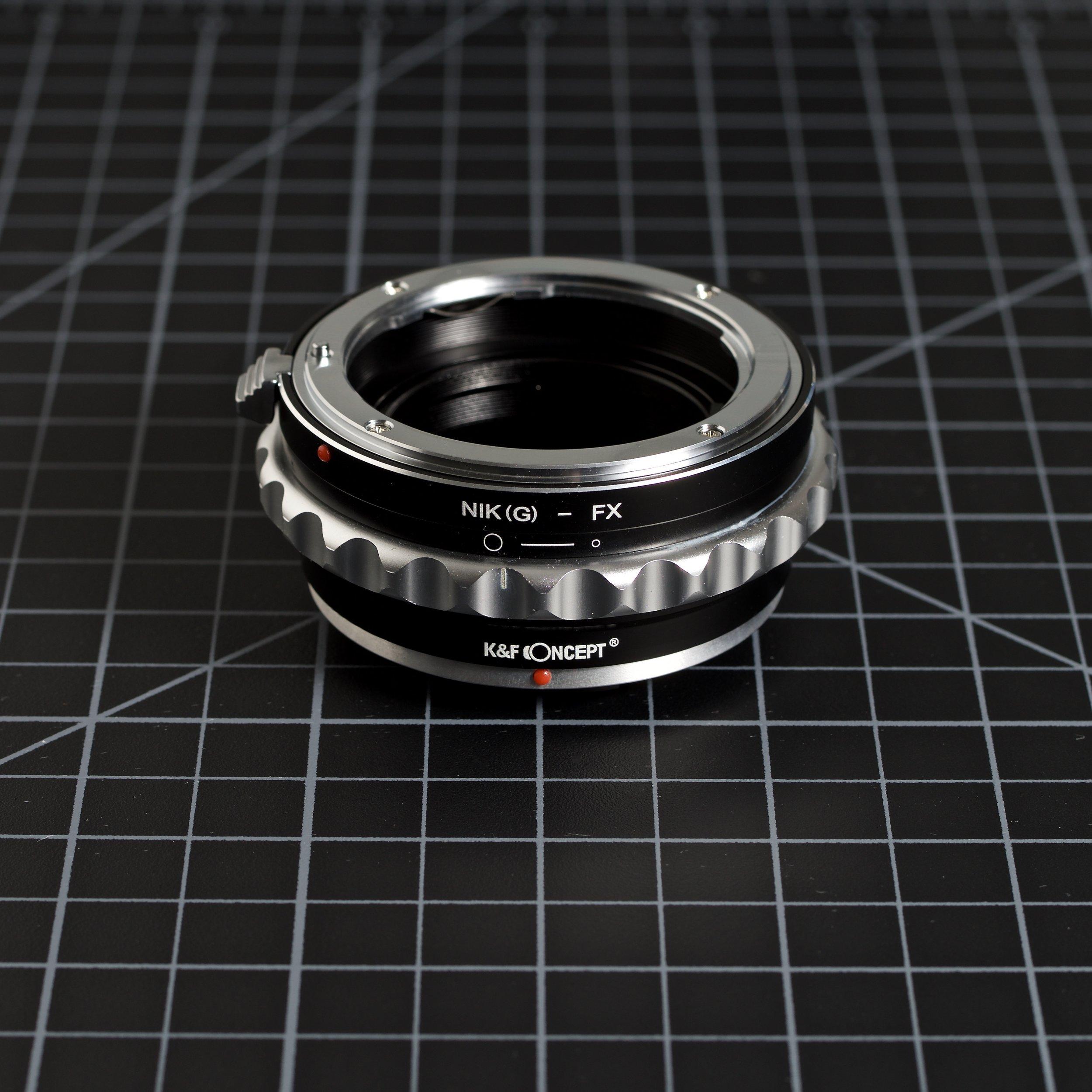 Nikon G (F mount) to Fuji X Mount