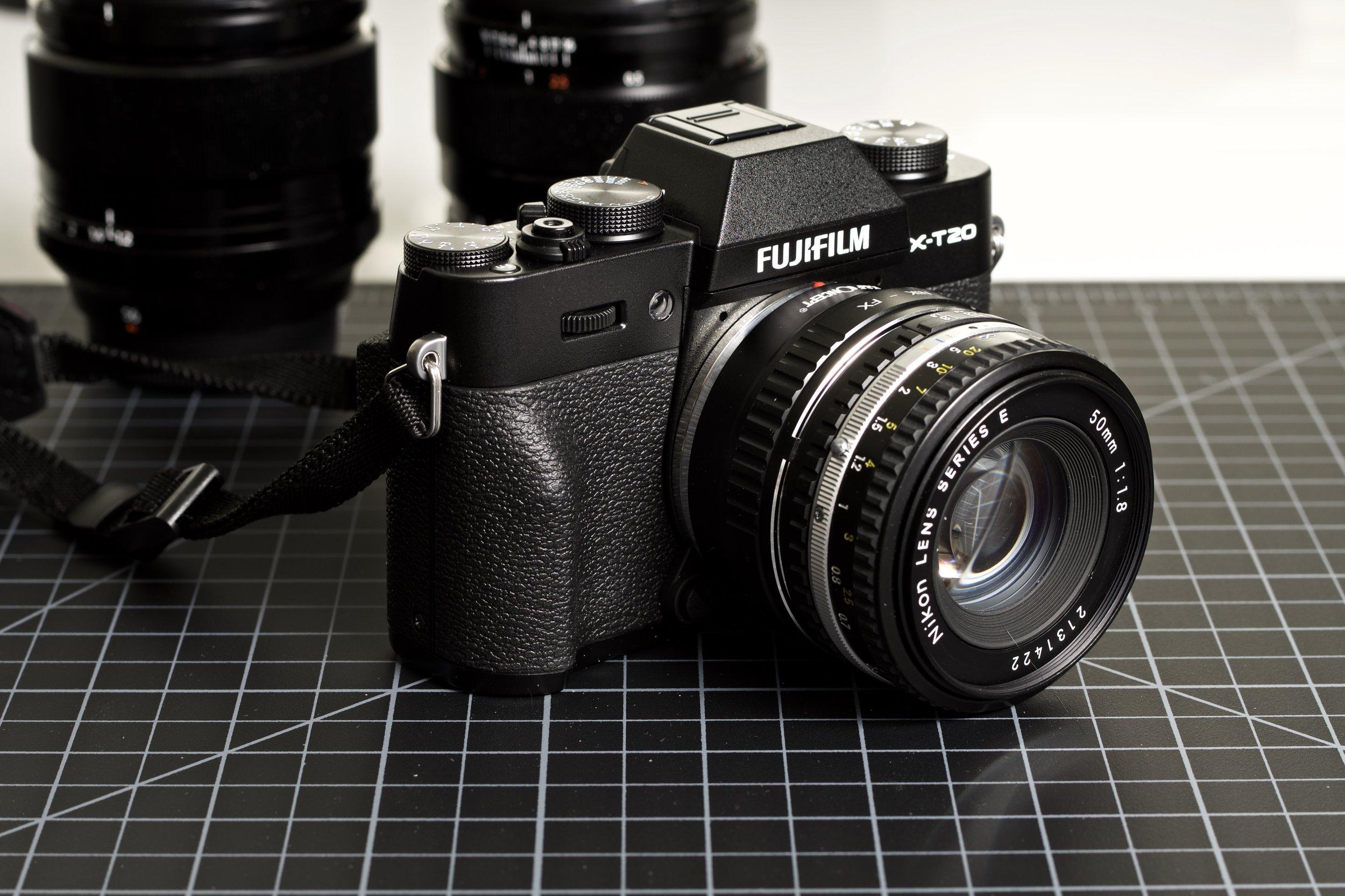 FujiFilm X-T20 with K&F Concept Nikon F to Fuji X mount adapter, Nikkor 50mm ƒ1.8 E-Series