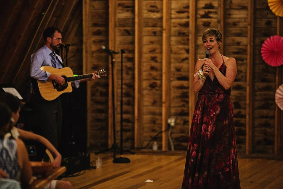 "Singing ""Somebody Loved"" at a wedding in upstate NY, 2014"