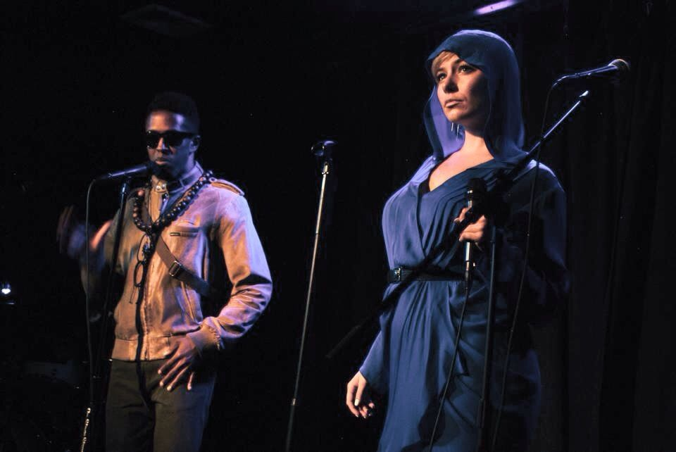 "Singing ""Extraplanetary"" in Broadway's Epic Fail, 2014 (with Eric R. Williams)"