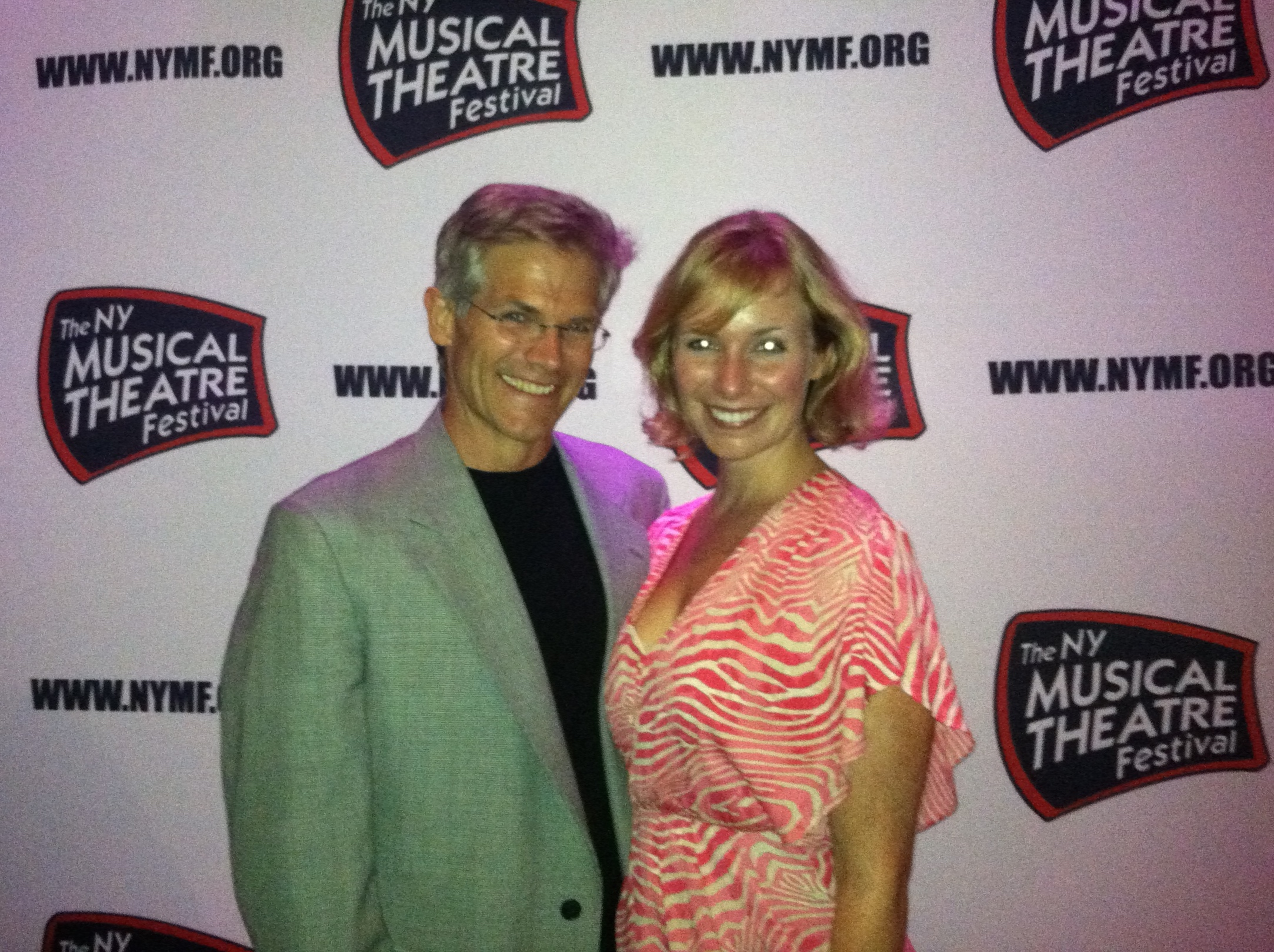 Opening night of New York Musical Theater Festival, with Playwright (and father) Dana Yeaton.  NYC, 2012