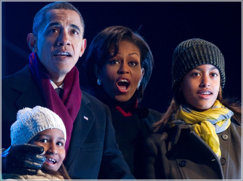 "President Obama wore a ""Marsala"" colored scarf to the White House Tree Lighting Ceremony this year."
