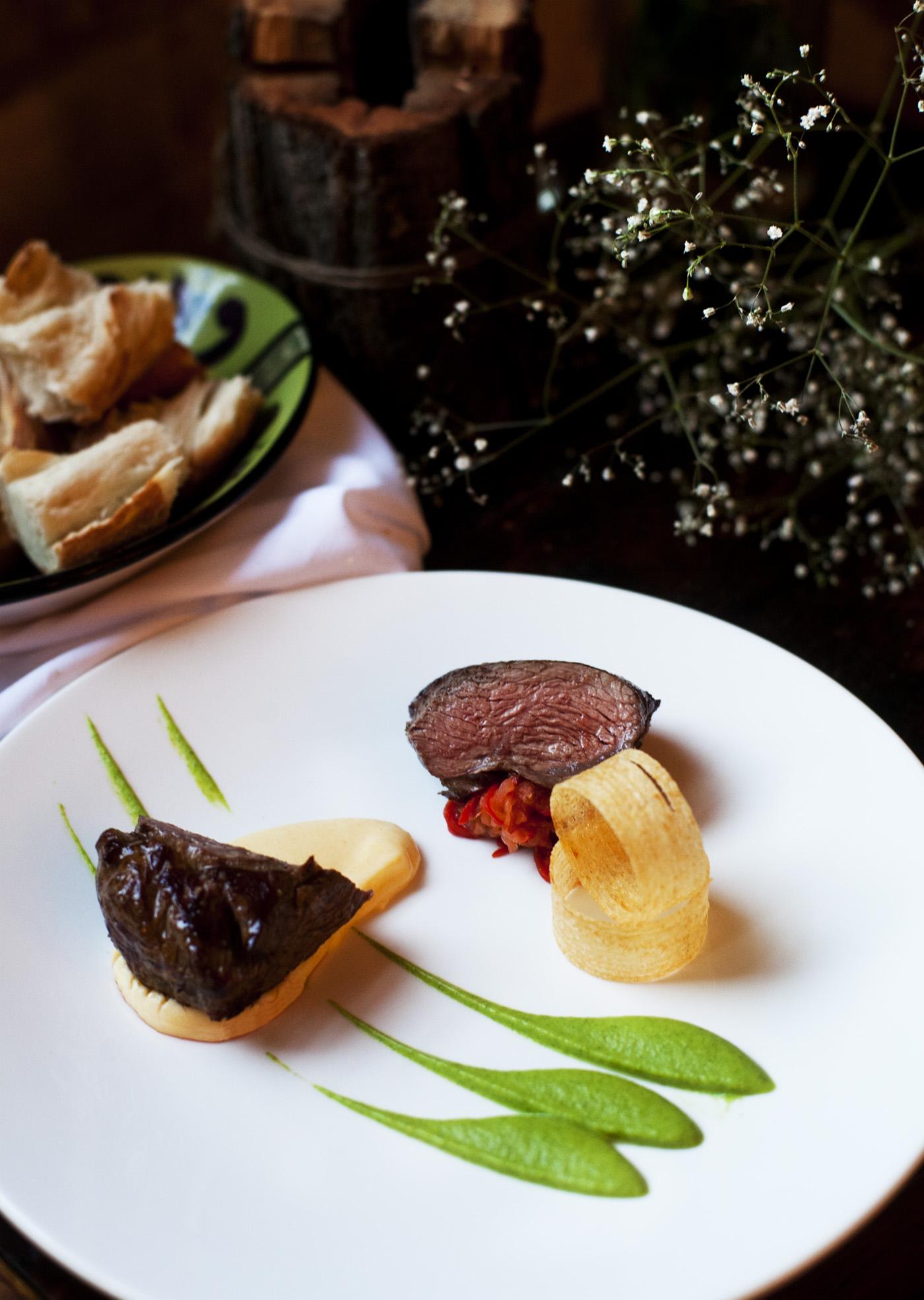 Lamb rump, soft polenta, piperade, courgette purée.jpg