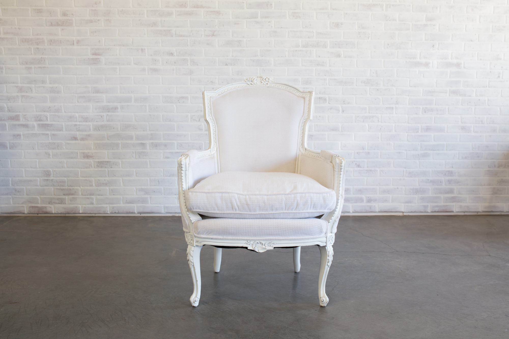 Snow Ced White Chairs Curated