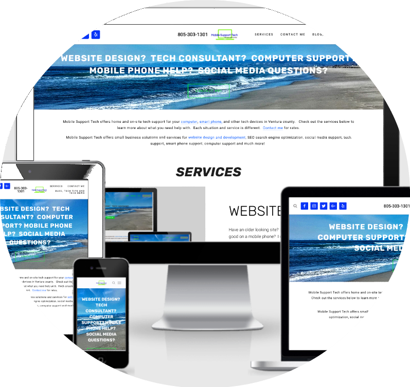 WEBSITE DESIGN - Have an older looking site? Need to redesign? Does your website look good on a mobile phone? I can help with all of that! I do a responsive site to fit any screen size. Easy to add more content or images. Ask how I can help your small business.