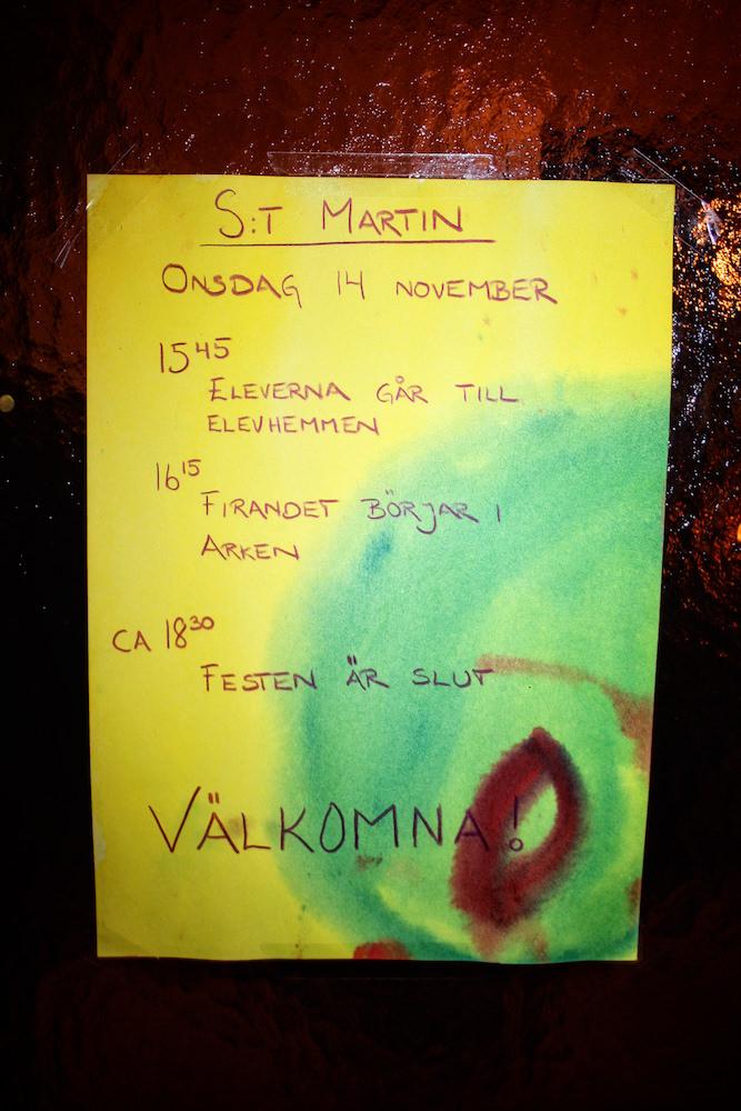 Sankt Martin är en annan högtid som vi firar på Solberga.