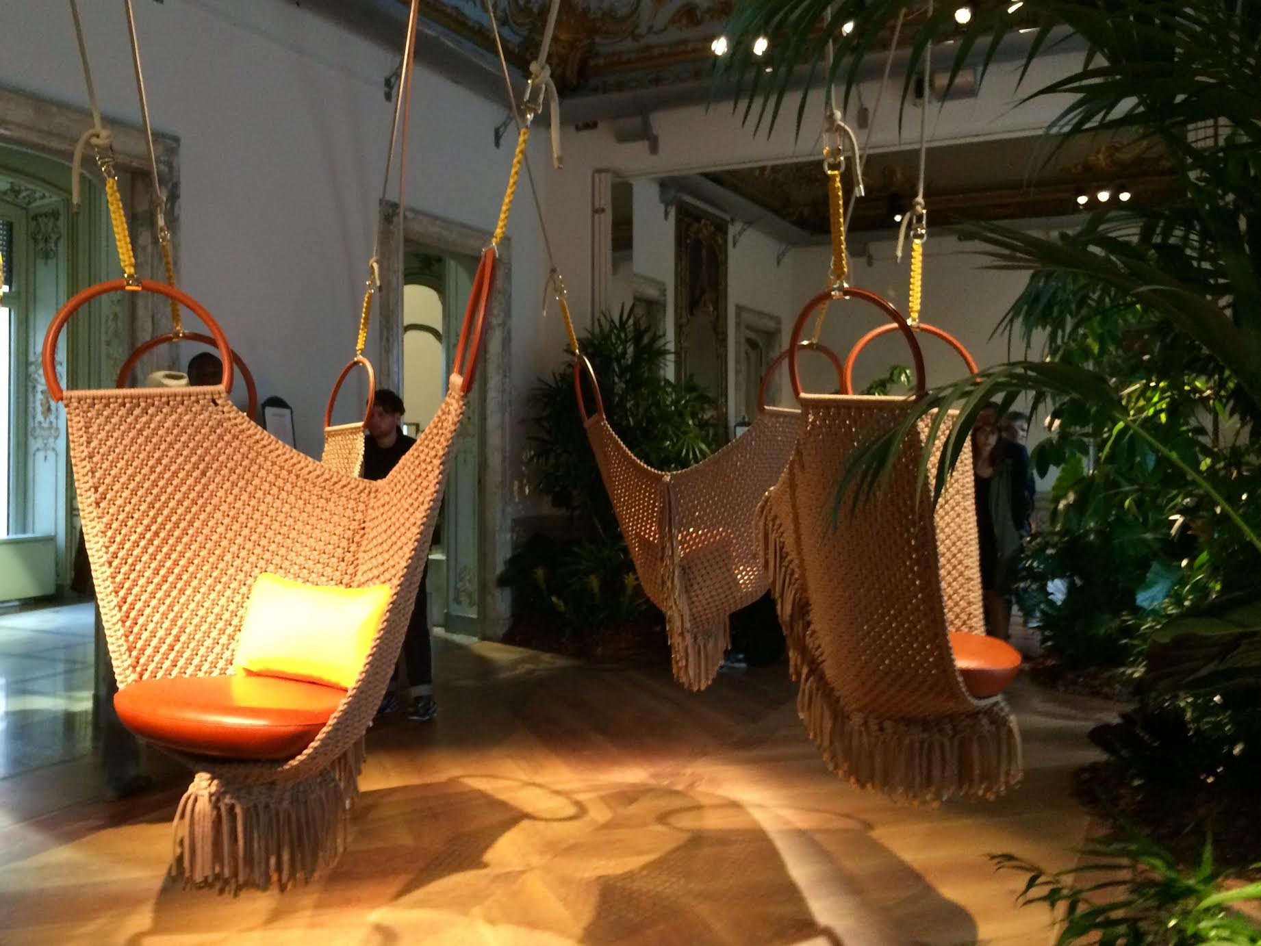 Swing Armchair Hamock by Patricia Urquiola