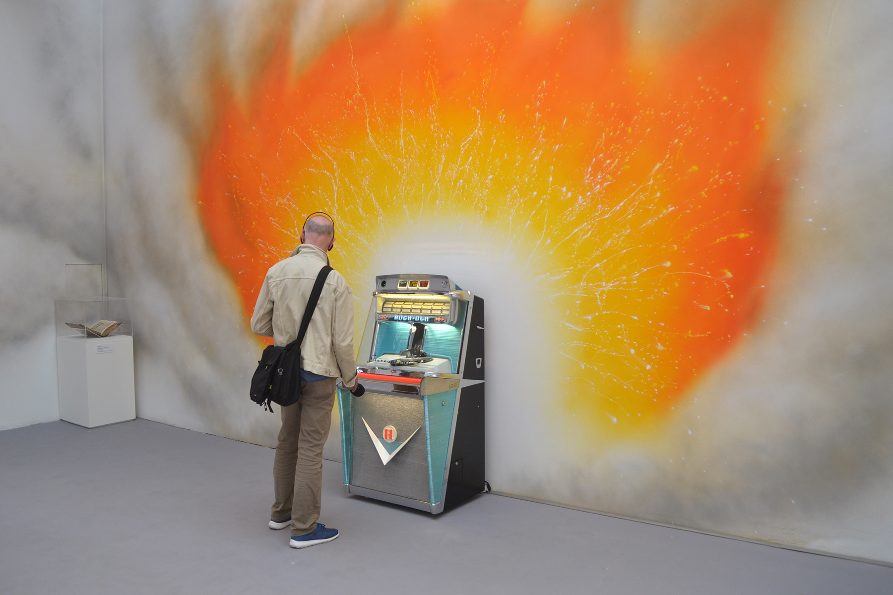 Jeremy Deller's jukebox plays nothing but 7-inch records, which emit factory machine noise.
