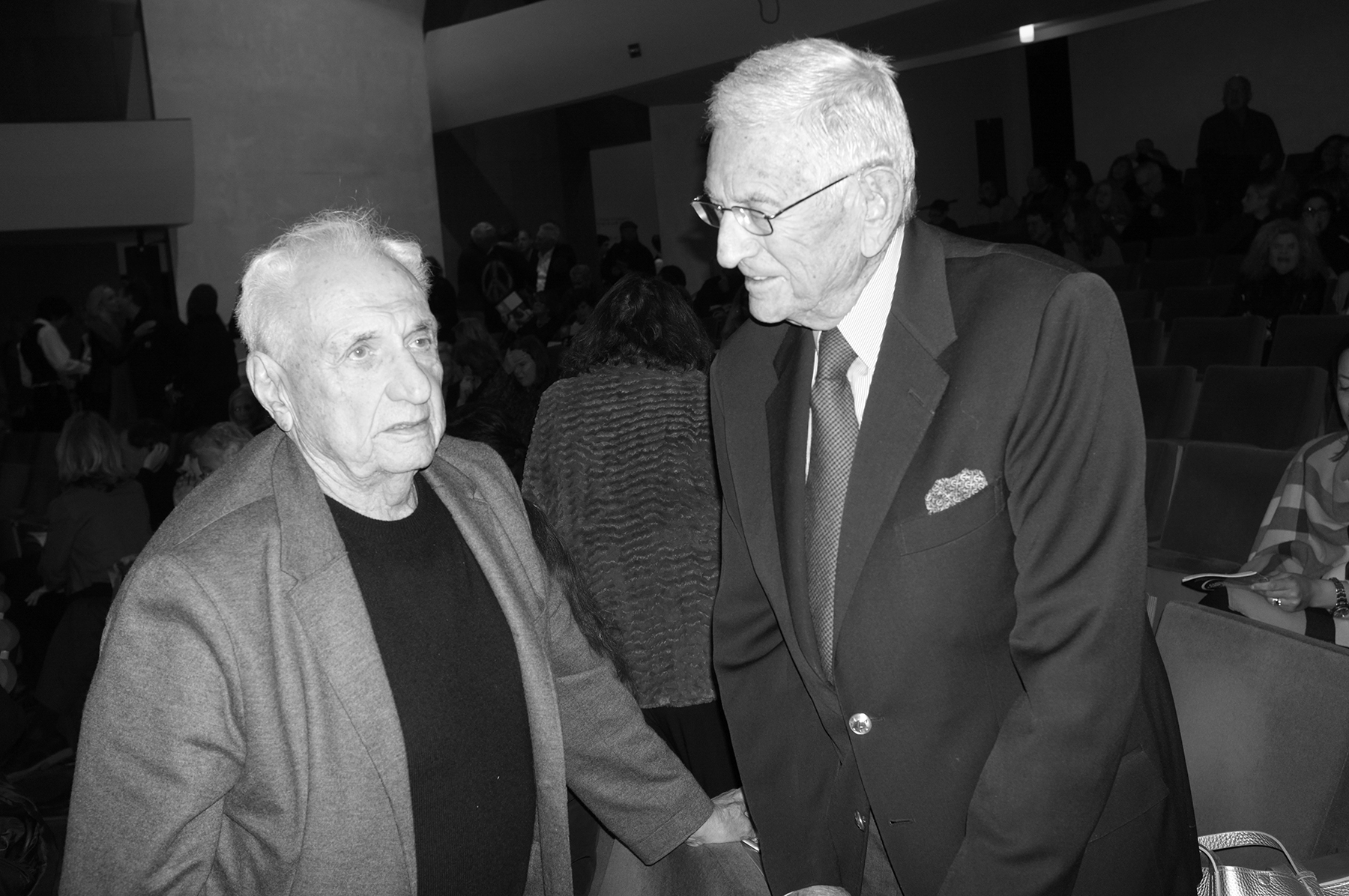 Frank Gehry and Eli Broad