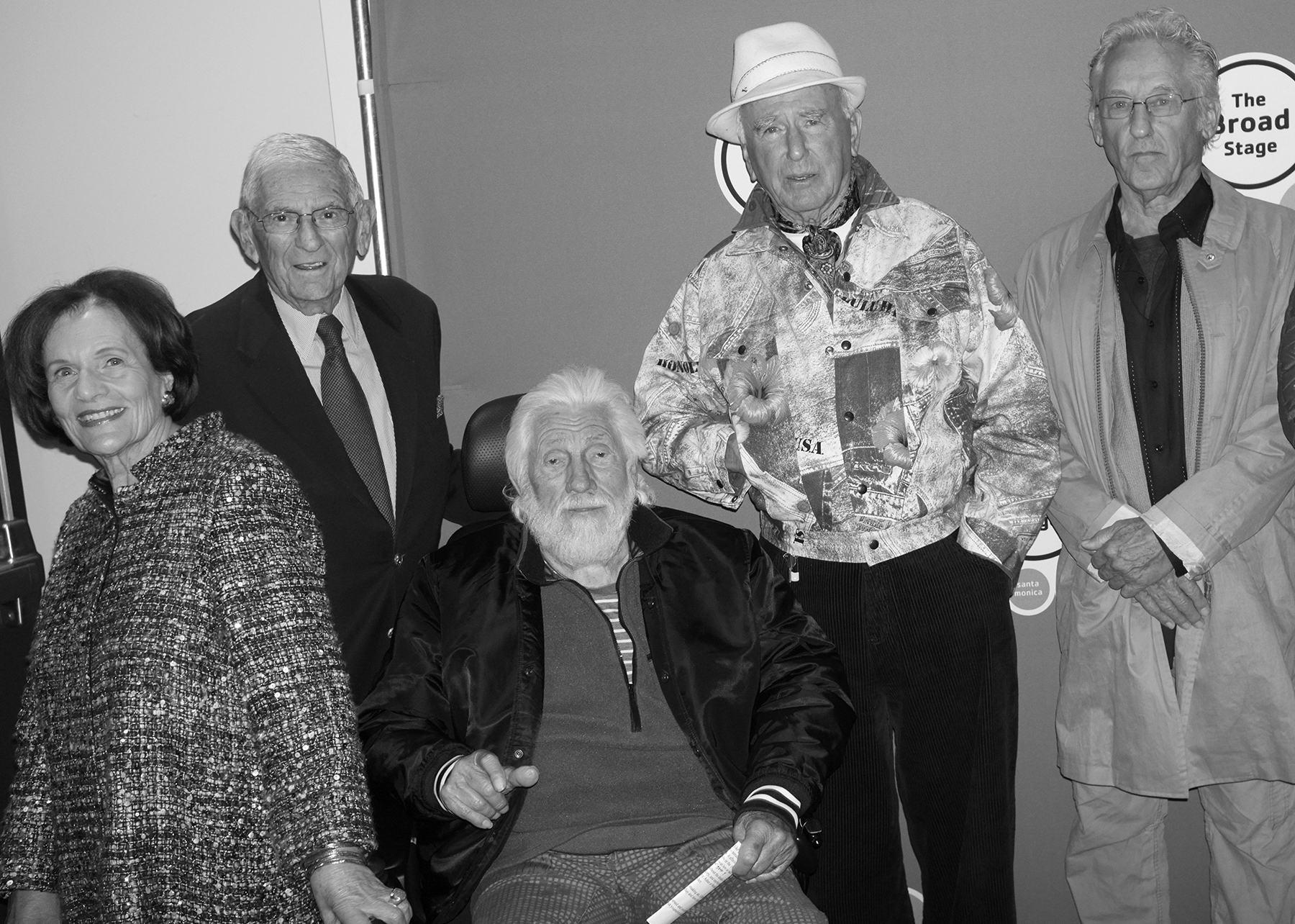 Edythe and Eli Broad, Ed Moses, Billy Al Bengston and Ed Ruscha