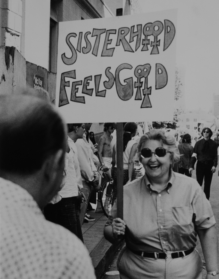 Cathy Cade Sisterhood Feels Good, Los Angeles, 1972 Digital print, 11 x 16 in. Courtesy the artist