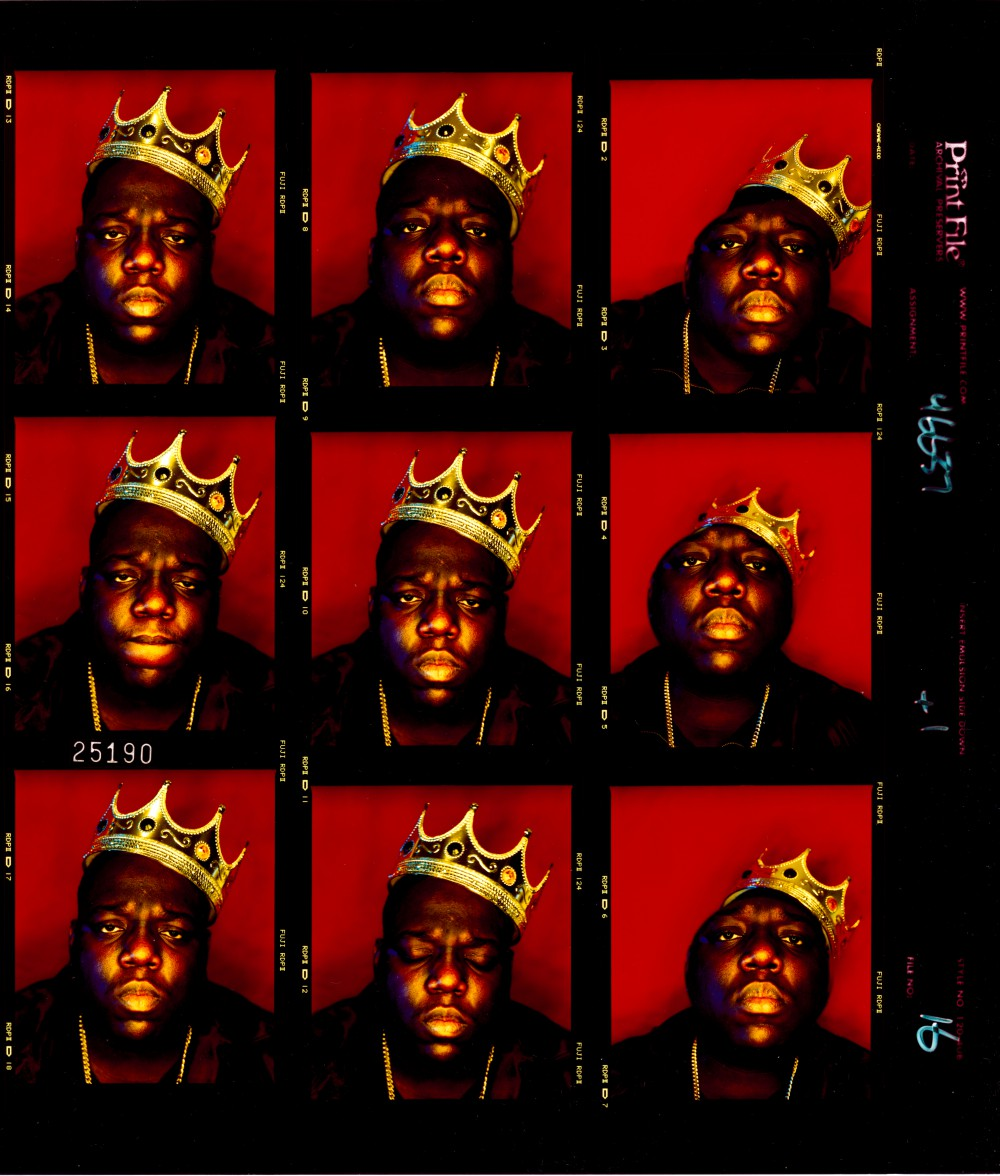 2. Biggie Smalls, King of New York contact sheet (1997). Photo by Barron Claiborne..jpg