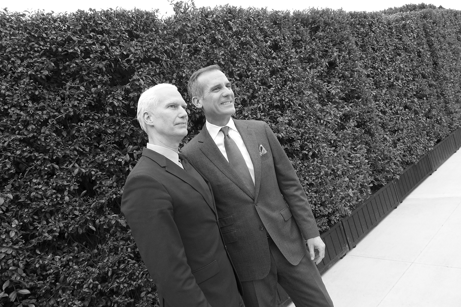 Klaus Biesenbach and Eric Garcetti