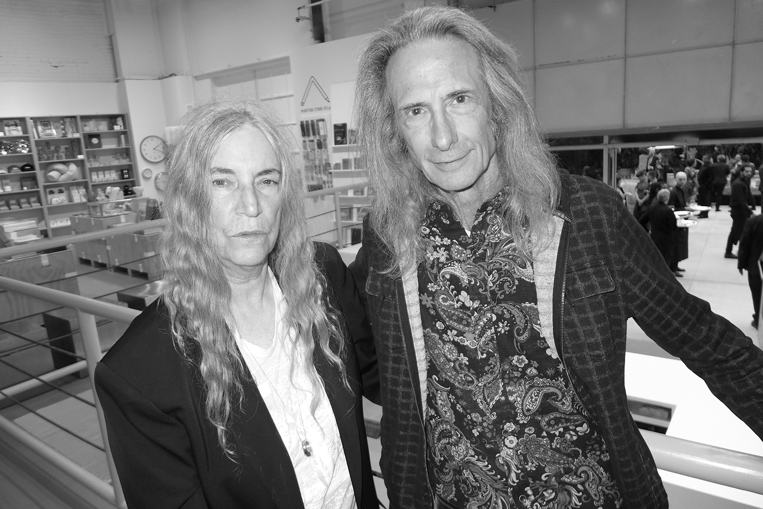 Patti Smith and Lenny Kaye