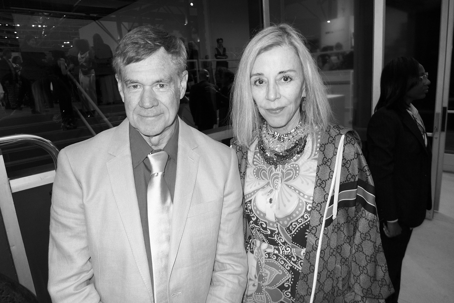 Gus Van Sant and Paige Powell