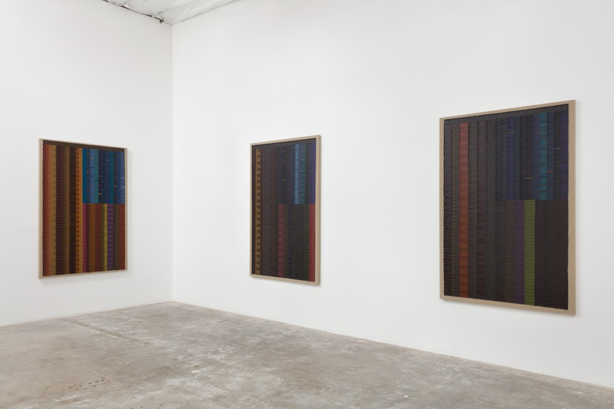Installation view of JUNE EDMONDS:  Allegiances & Convictions , 2019. Courtesty of Luis De Jesus Los Angeles. Photo by Michael Underwood.