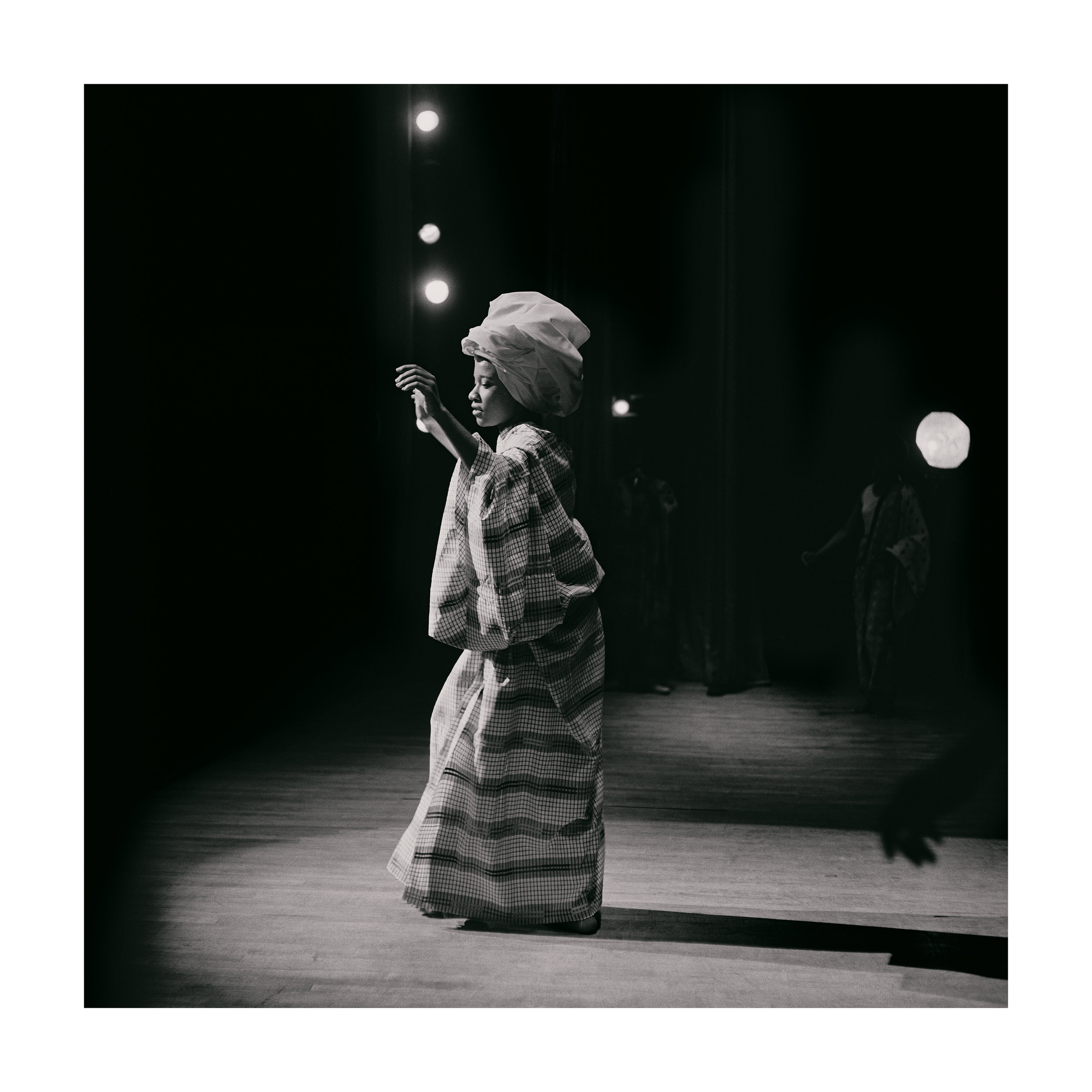 Kwame Brathwaite. Grandassa Model onstage, Apollo Theater, Harlem, ca. 1968.Courtesy of the artist and Philip Martin Gallery, Los Angeles.