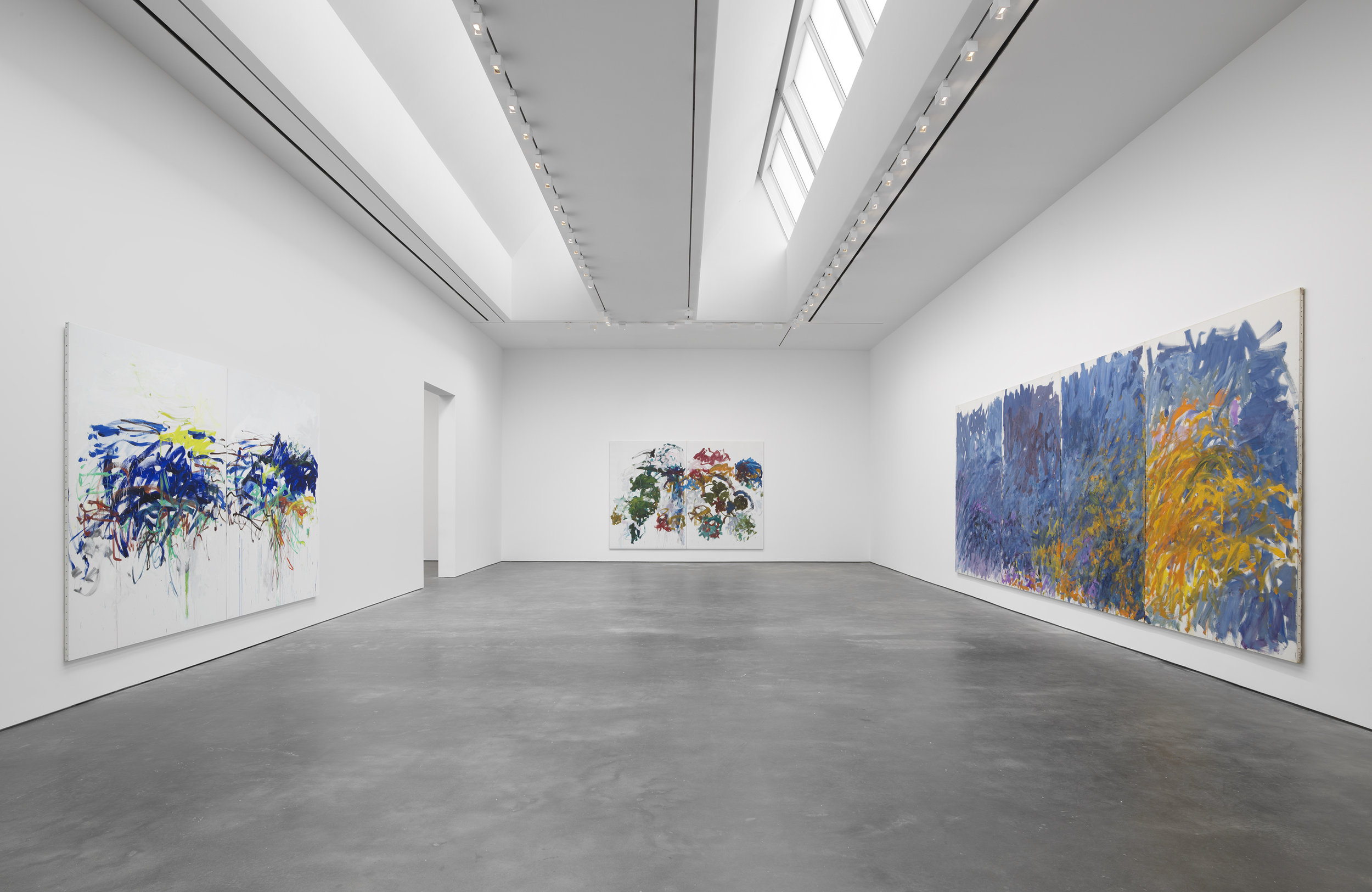 Installation view,  Joan Mitchell: I carry my landscapes around with me , David Zwirner, New York, 2019. Courtesy David Zwirner.