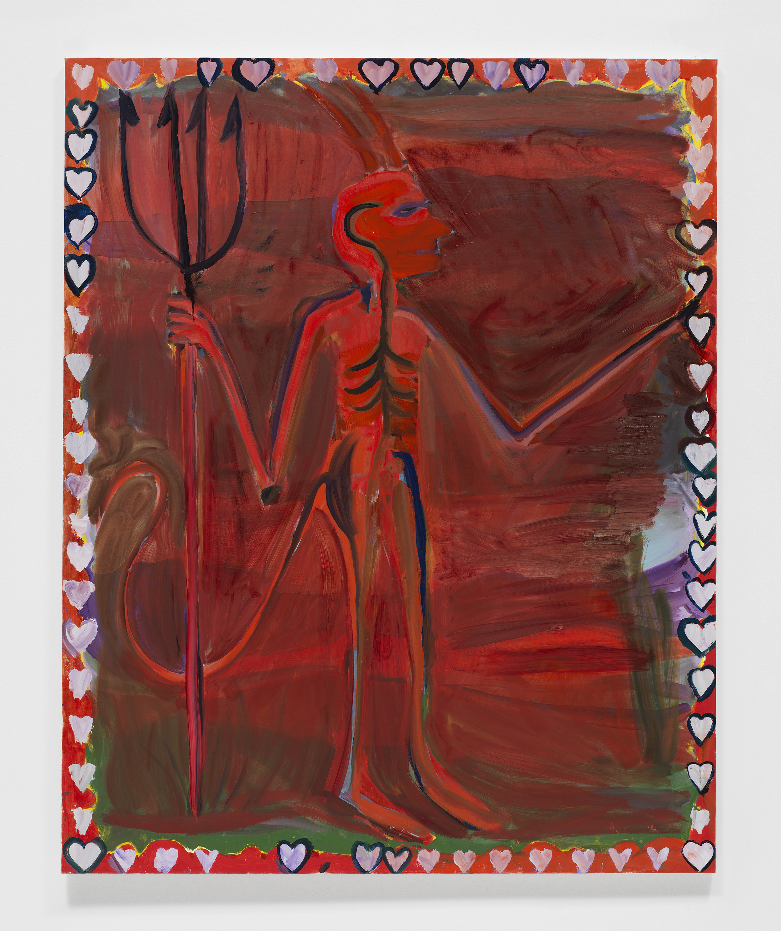 Josh Smith,   Devil , 2019, Oil on linen, 60 x 48 inches, 152.4 x 121.9 cm