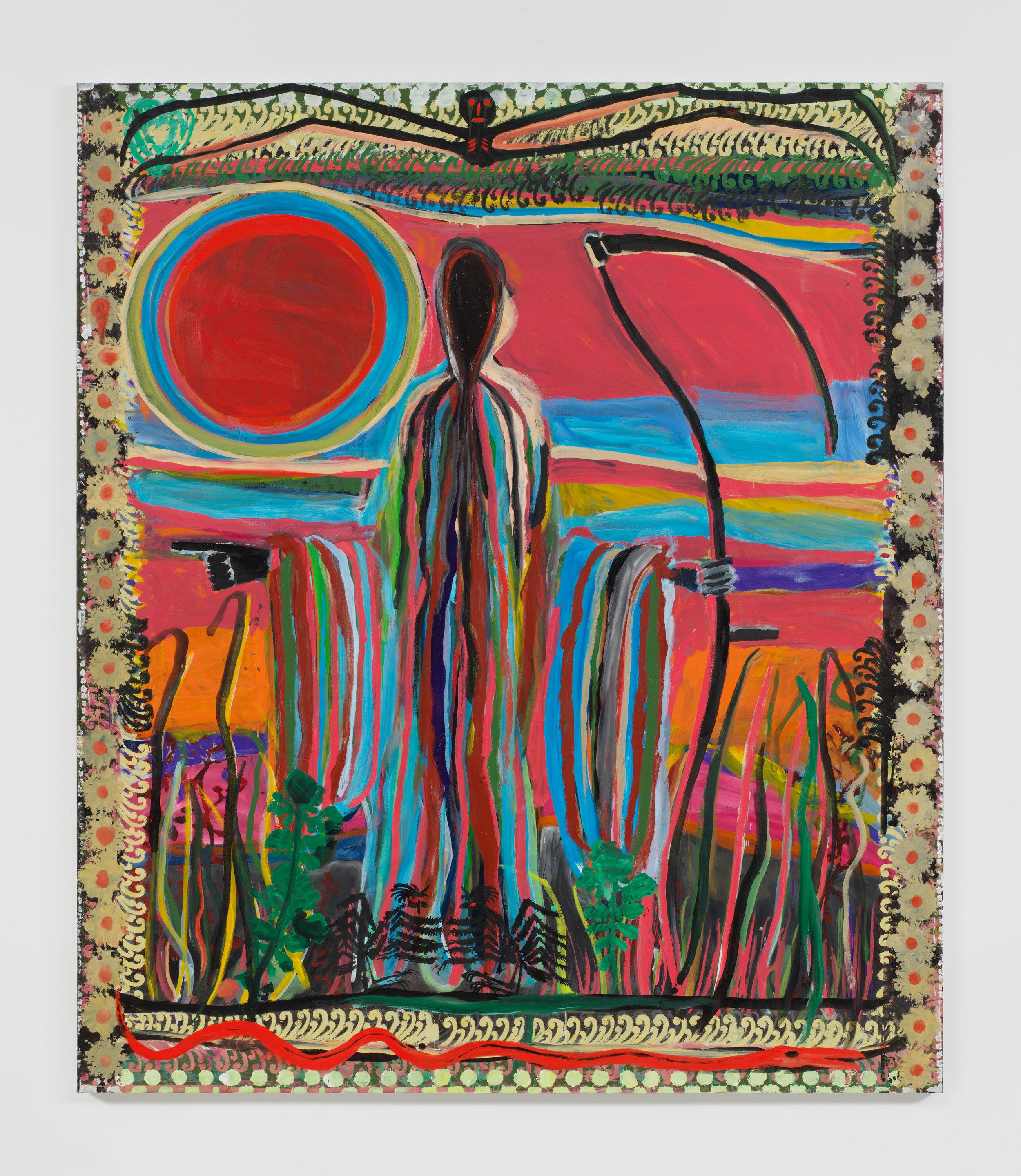 Josh Smith,   Scholes Street , 2019, Oil on linen, 84 x 72 1/8 inches, 213.4 x 183.2 cm