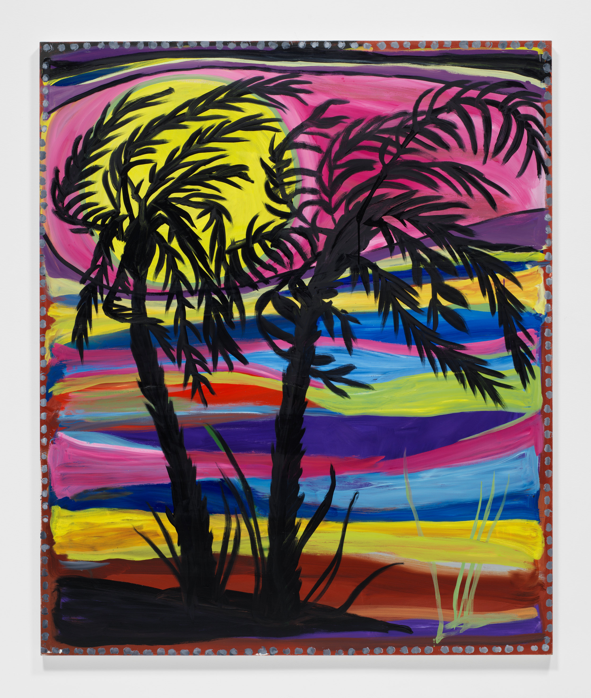 Josh Smith,   Palms #1 ,  2019, Oil on linen, 72 x 60 inches, 182.9 x 152.4 cm