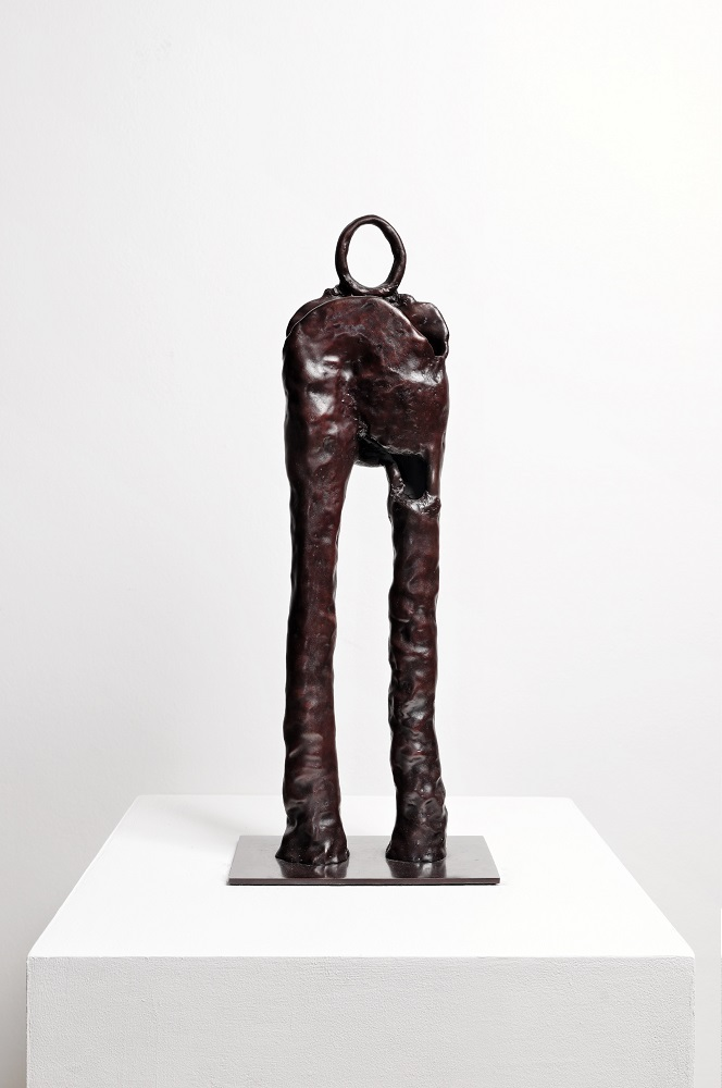 "Simone Fattal. ""The Wounded Warrior."" 1999. Bronze. 23.6 x 7.9 x 7.9 in. (60 x 20 x 20 cm). Courtesy of the artist and kaufmann repetto, Milan / New York; Balice Hertling, Paris; Karma International, Zurich / Los Angeles"