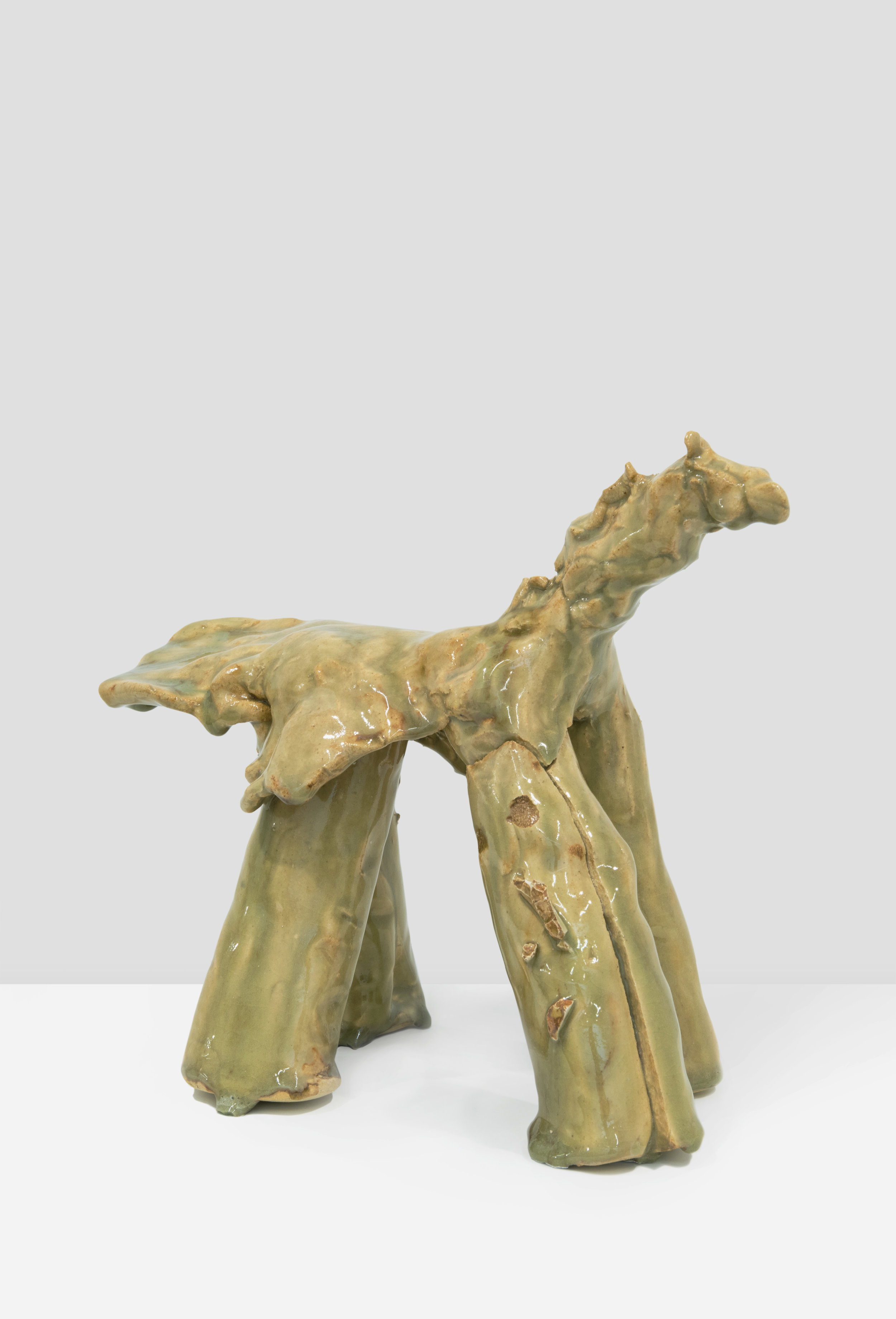 "Simone Fattal. ""Horse."" 2009. Glazed stoneware. 8 x 10 x 5 in. (20.32 x 25.4 x 12.7 cm). Courtesy of the artist and kaufmann repetto, Milan / New York; Balice Hertling, Paris; Karma International, Zurich / Los Angeles"