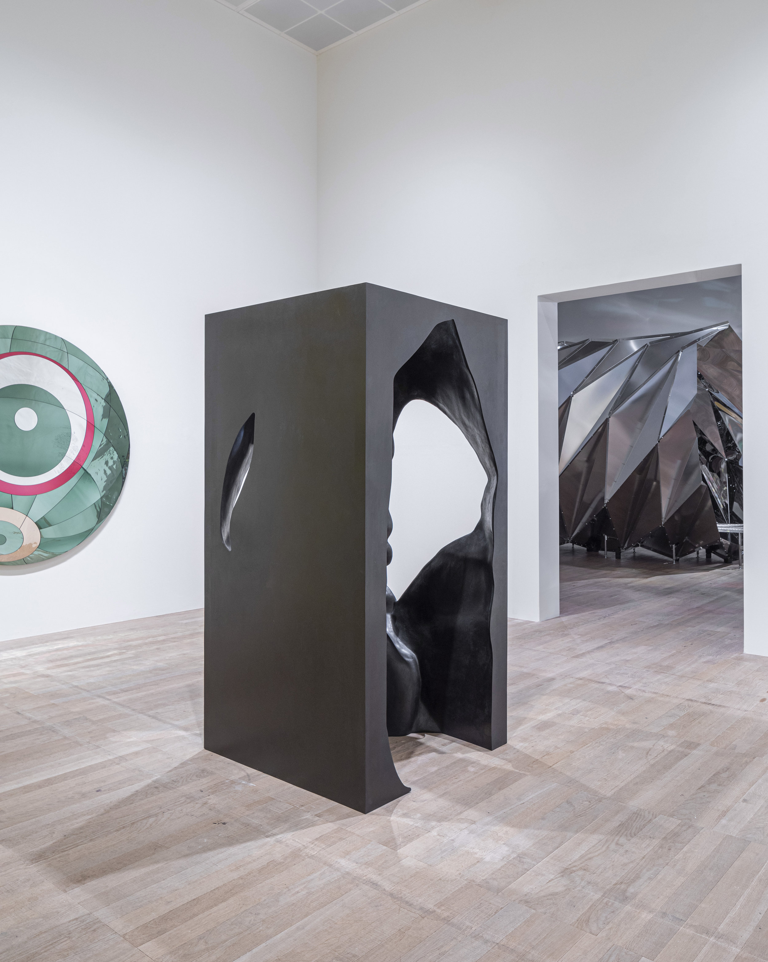 Olafur Eliasson (b.1967)   The presence of absence pavilion  2019 Bronze 200 x 100 x 100 cm Installation view: Tate Modern, London Photo: Anders Sune Berg Courtesy the artist; neugerriemschneider, Berlin; Tanya Bonakdar Gallery, New York / Los Angeles © 2019 Olafur Eliasson